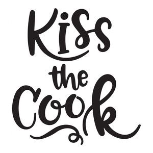 Silhouette Design Store: kiss the cook.