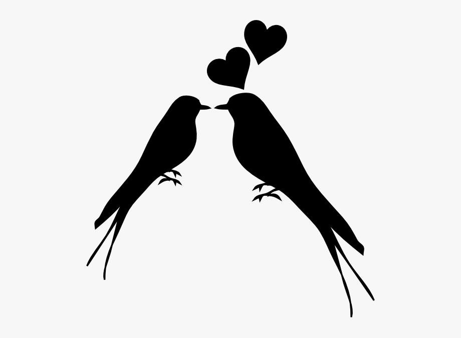 Birds Kissing Clip Art.