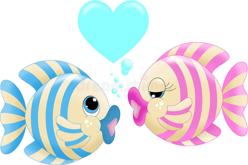 Kissing fish clipart 2 » Clipart Station.