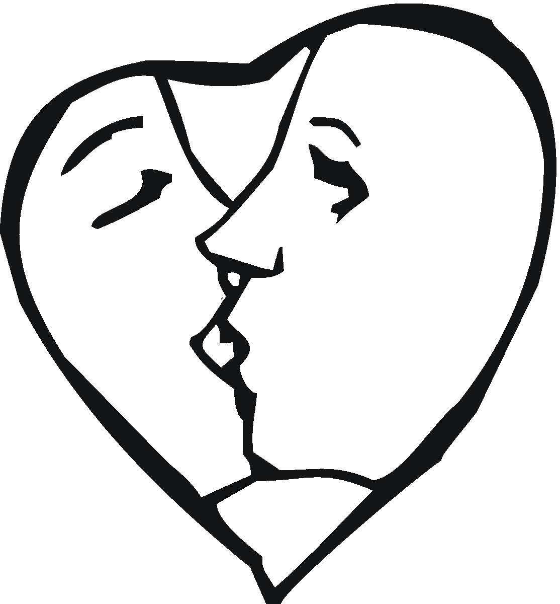 The kissing hand printable coloring pages.