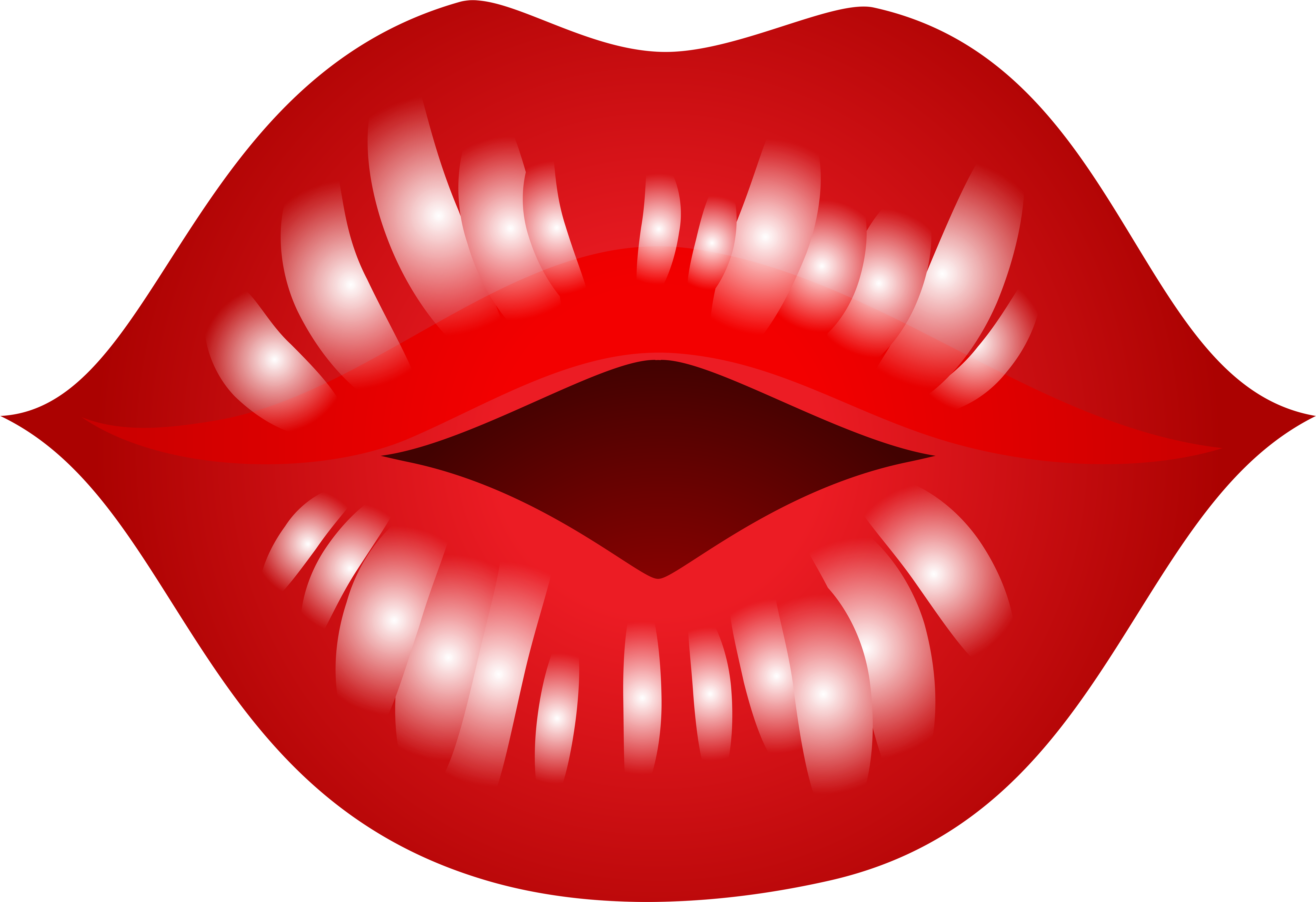 Kissing Lips Clipart.