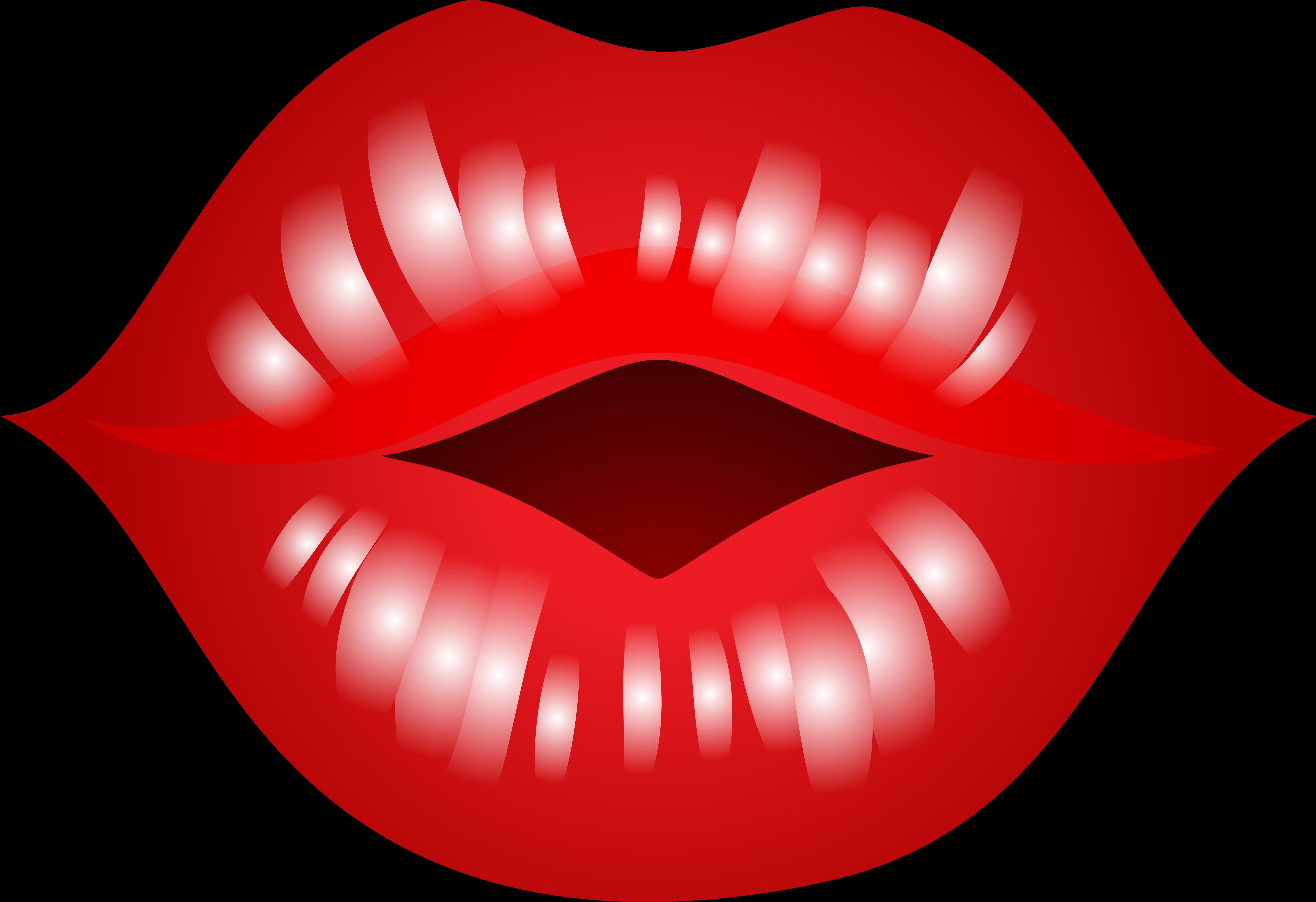 Kissing Lips Clipart.