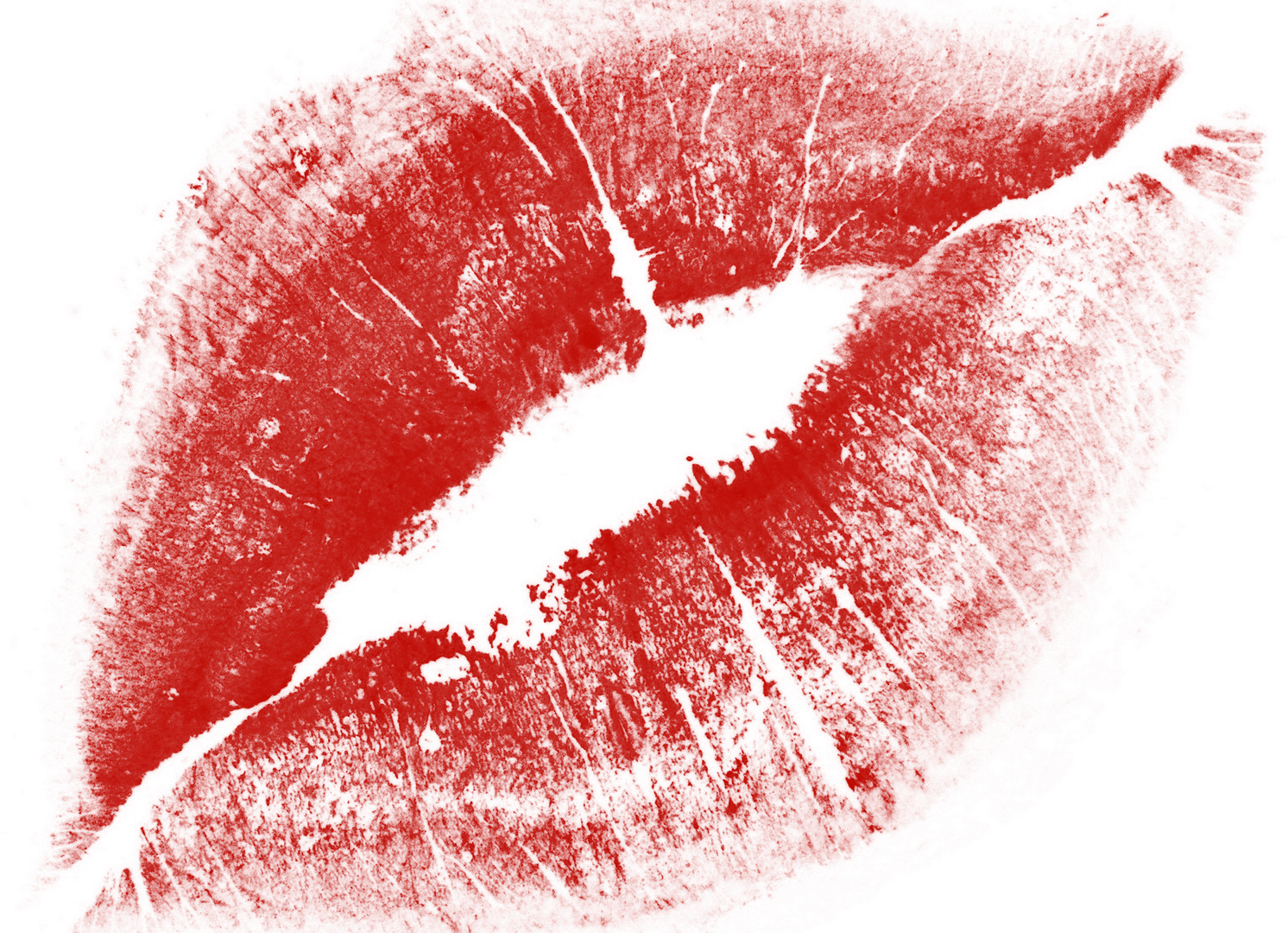 Red Kiss Lips transparent PNG.