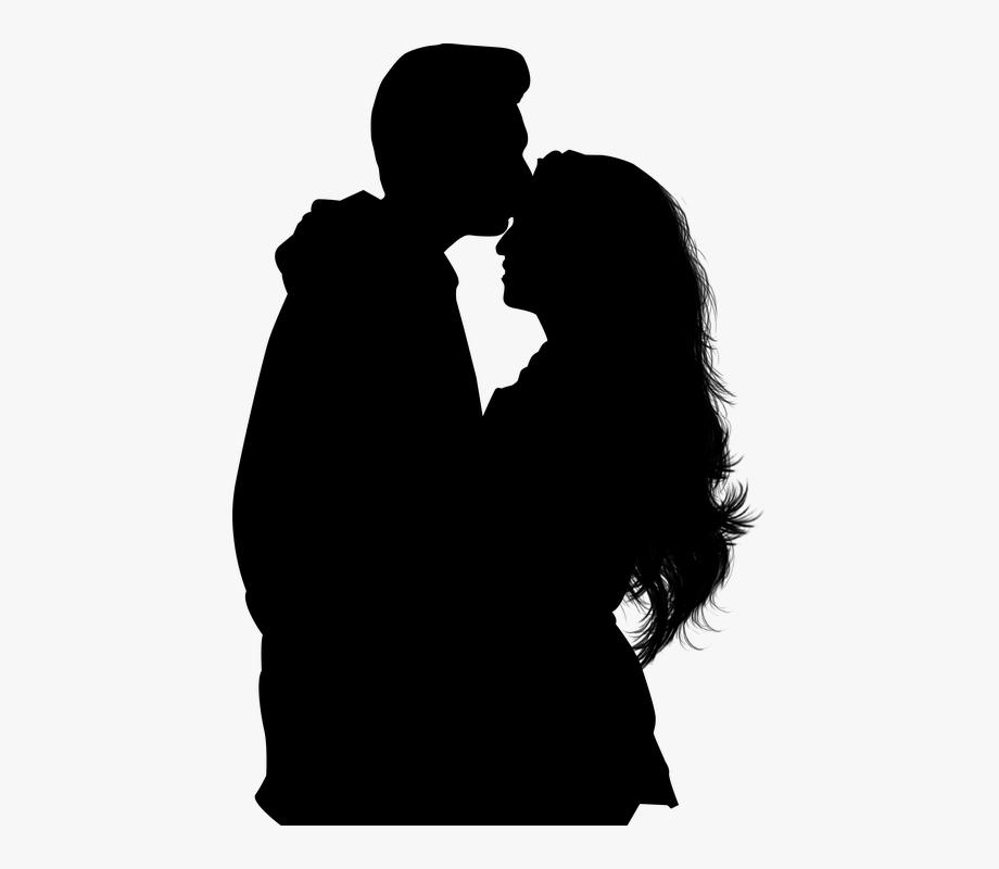 Silhouette, Couple, Romance.