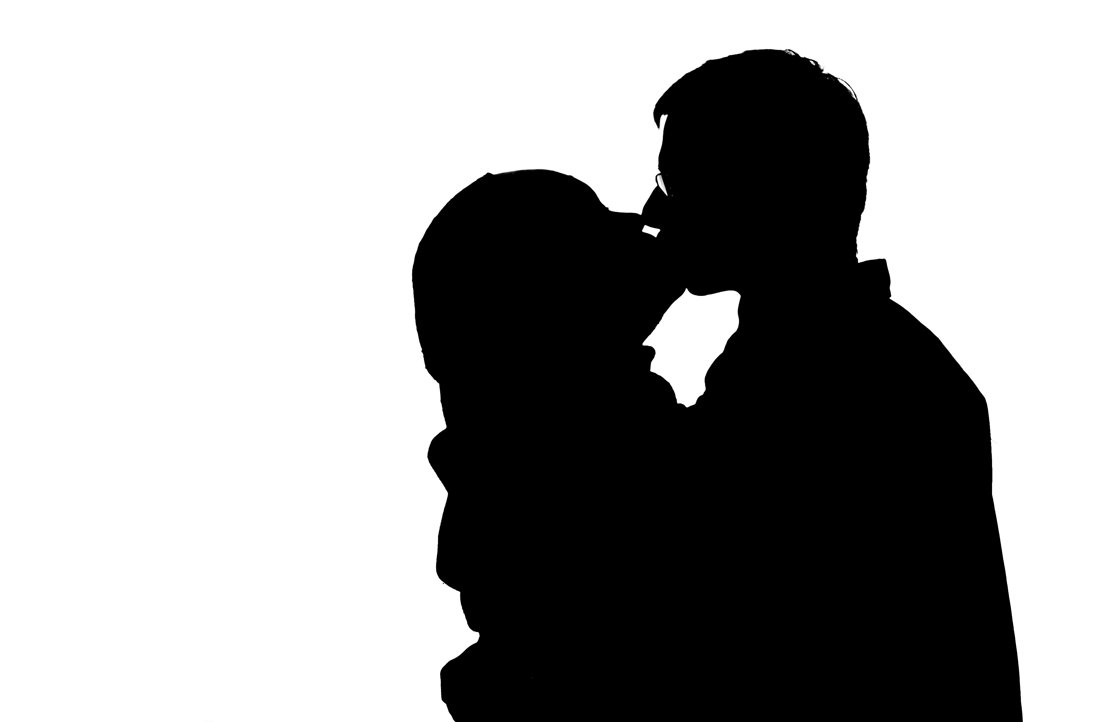 Free People Kissing Silhouette, Download Free Clip Art, Free.
