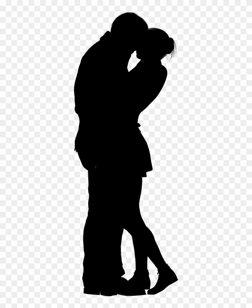 Couple Silhouette, Woman Silhouette, String Art, Kissing.