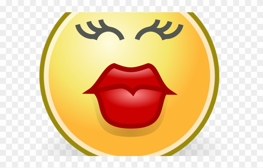 Kiss Smiley Clipart Vector.