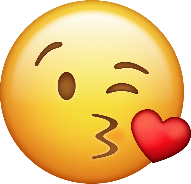 Kissy face emoji download free clipart with a transparent.