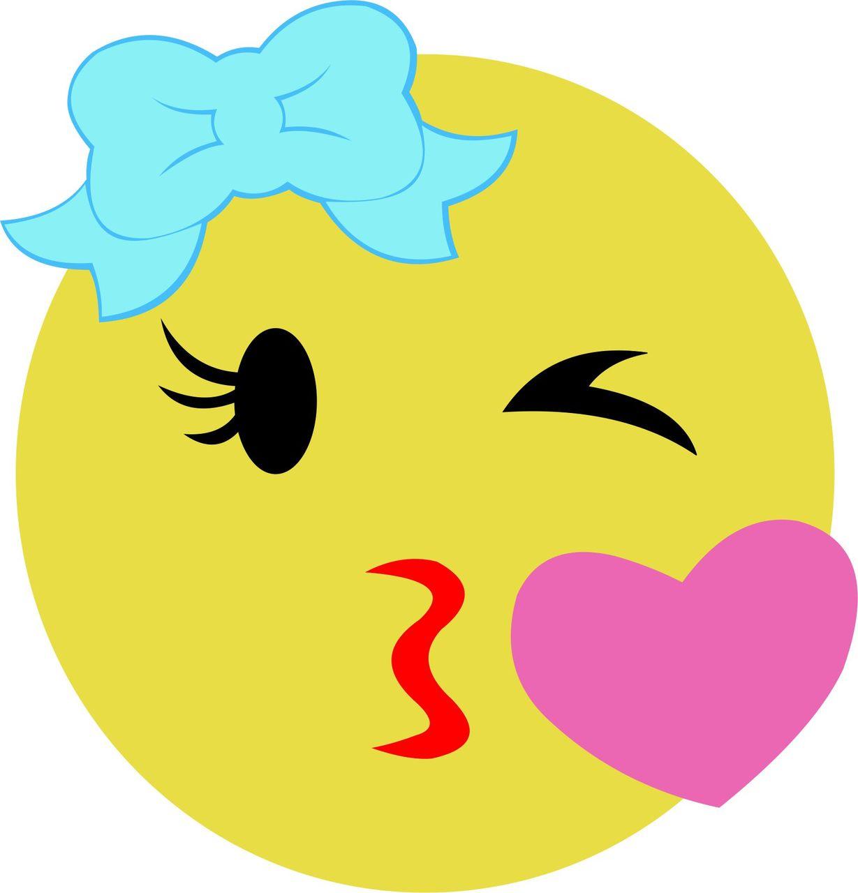 Kissy Face Emoji Silhouette.