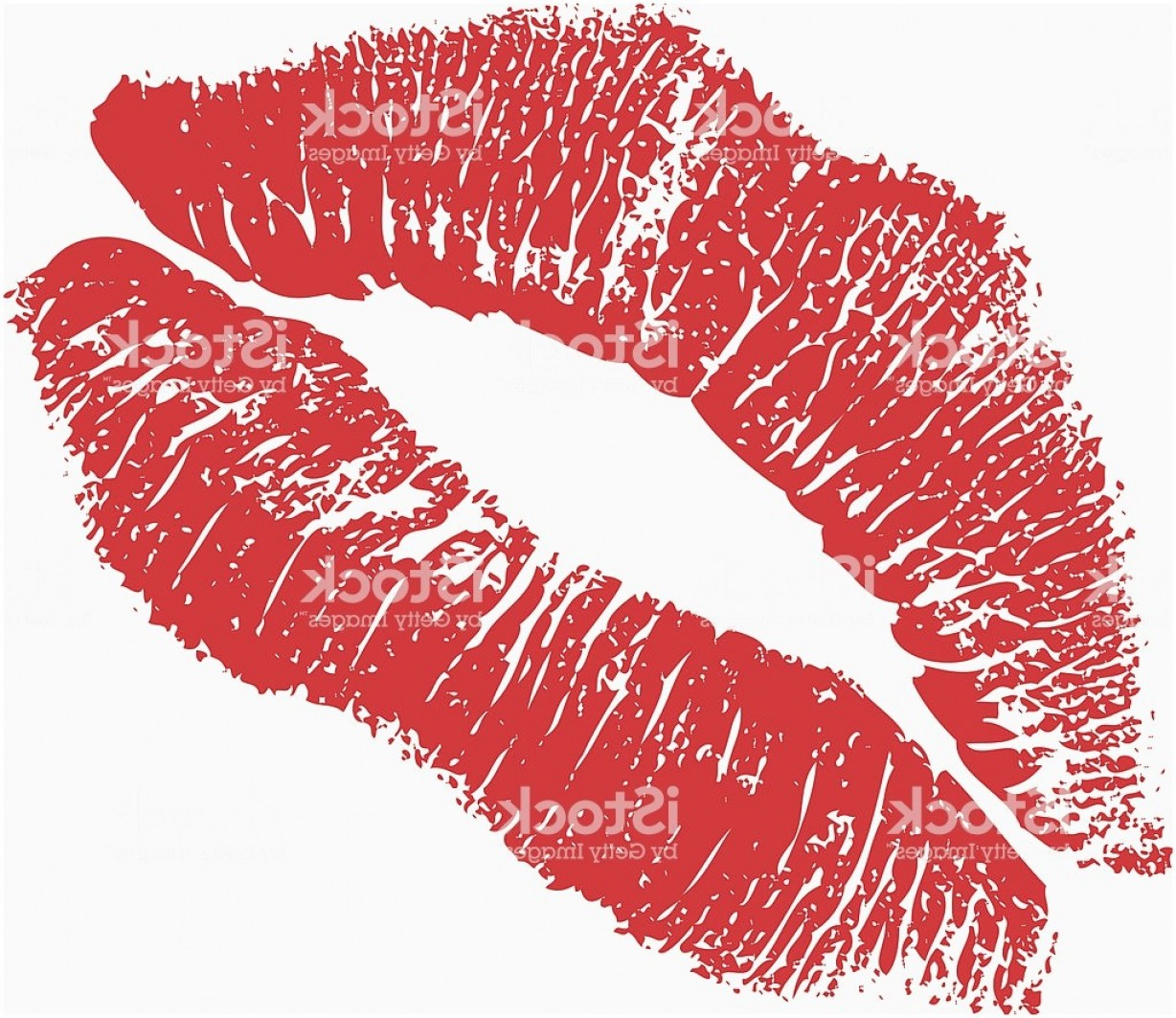 Kissy Lips Vector.