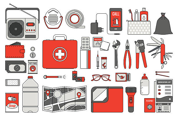 Best Survival Kit Illustrations, Royalty.