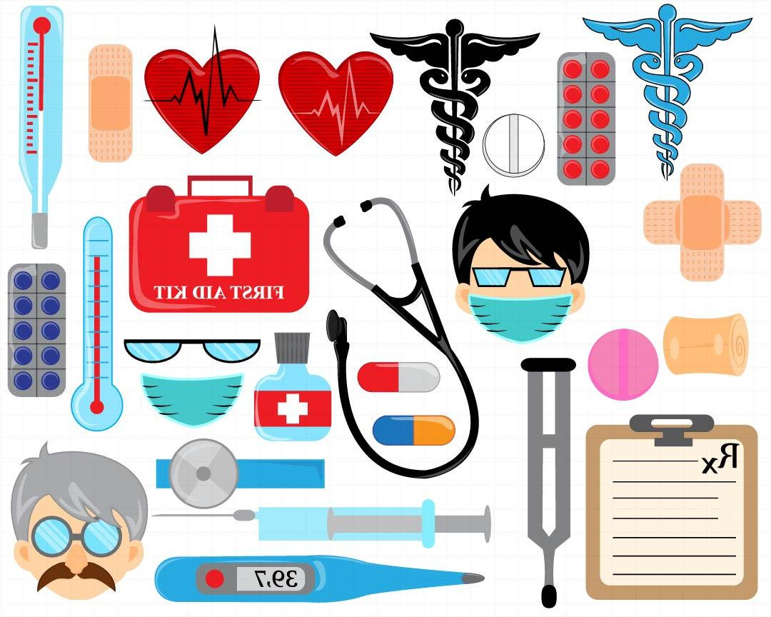 Best Doctor Kit Clip Art Drawing ~ Vector Images Design.
