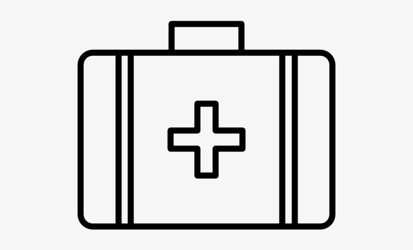 First Aid Kit Clipart Black And White.
