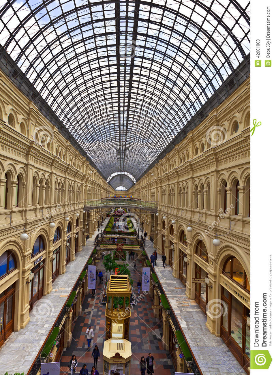 Inside The Famous GUM Department Store In Moscow. Editorial Stock.