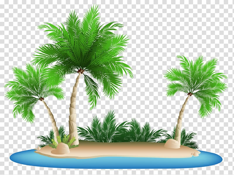 Palm Islands transparent background PNG cliparts free.