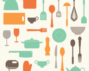 Clipart kitchen utensils.