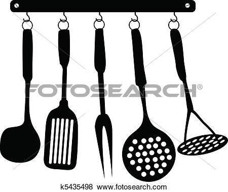 Clip Art of Kitchen Accessories k5435498.