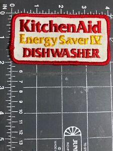 Details about Vintage KitchenAid Energy Saver IV Dishwasher Logo Patch  Kitchen Aid Appliance.