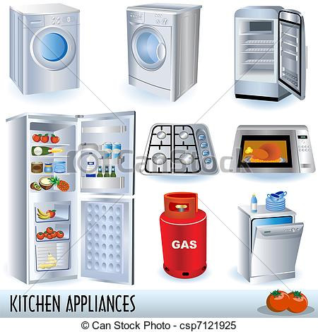 Kitchen appliances clipart.