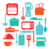 Clip Art of Kitchen tools k7202108.