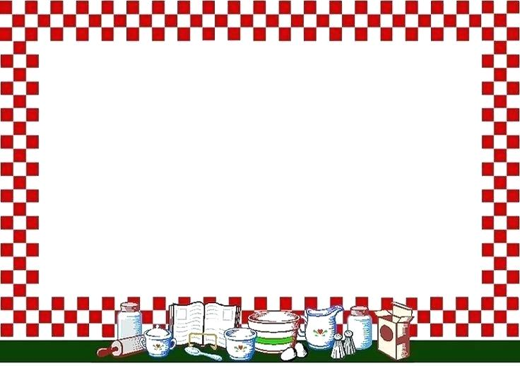 kitchen utensils border clipart.