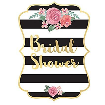 Bridal Shower Jumbo Deluxe Invitations w/Roses.