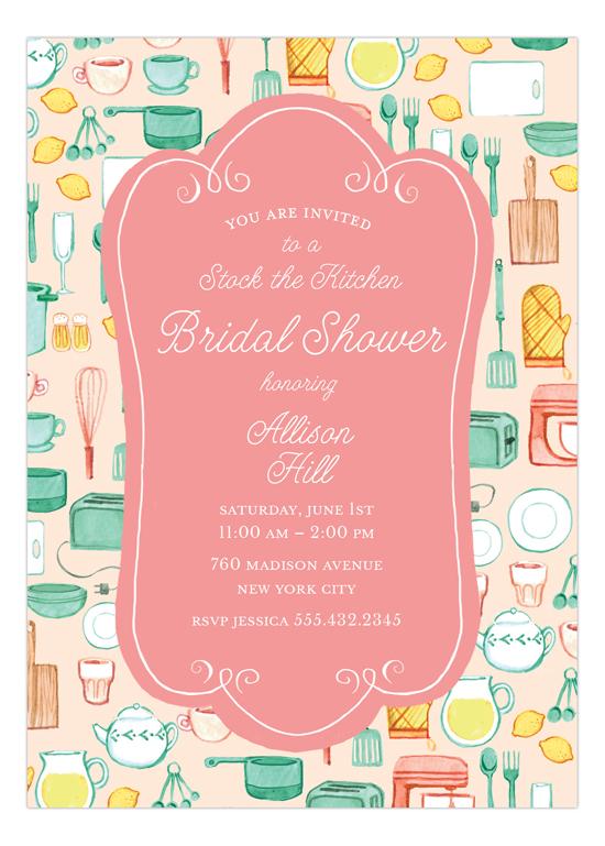 Kitchen Bridal Shower Invitation.