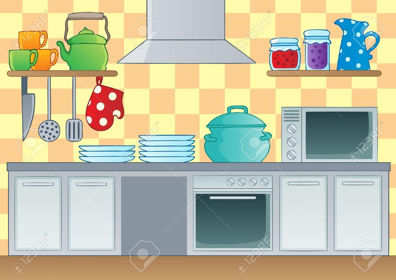 kitchen cartoon.