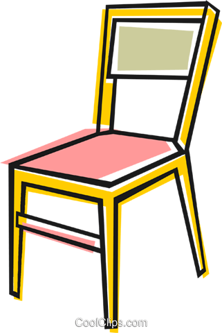 Kitchen chair Royalty Free Vector Clip Art illustration.