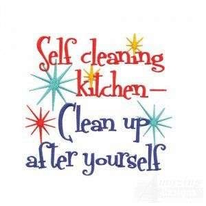Please Clean Up After Yourself Sign Kitchen.