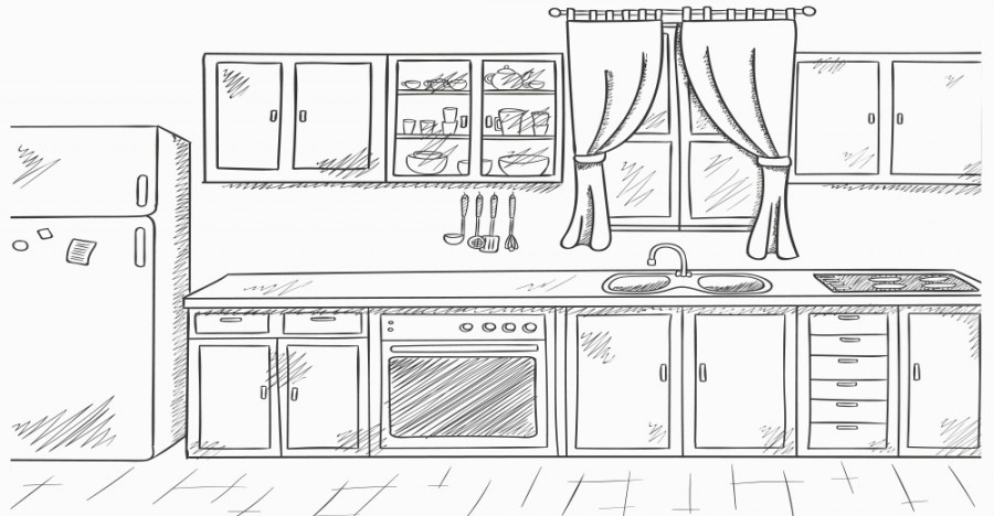Kitchen Clipart Black And White Of Clip Art 1141 3197144498 For.