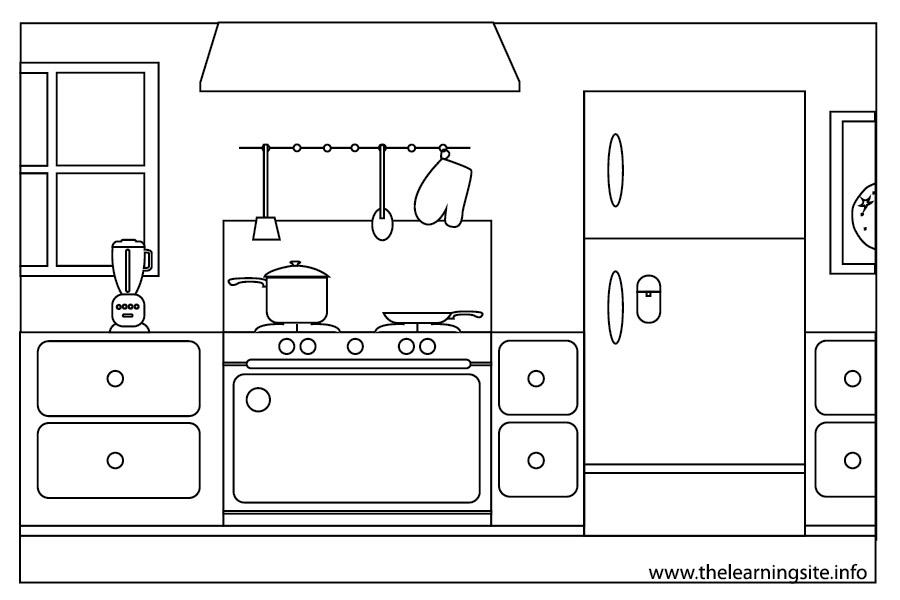 Kitchen clipart black and white 8 » Clipart Station.