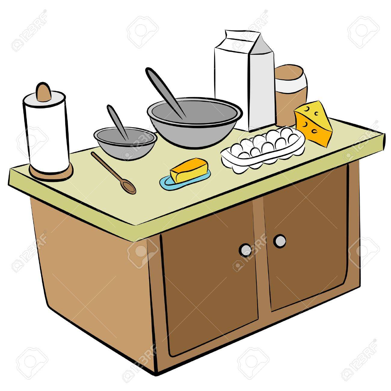 Kitchen Island Clipart.