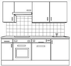 Kitchen Cupboard Clipart Black And White.