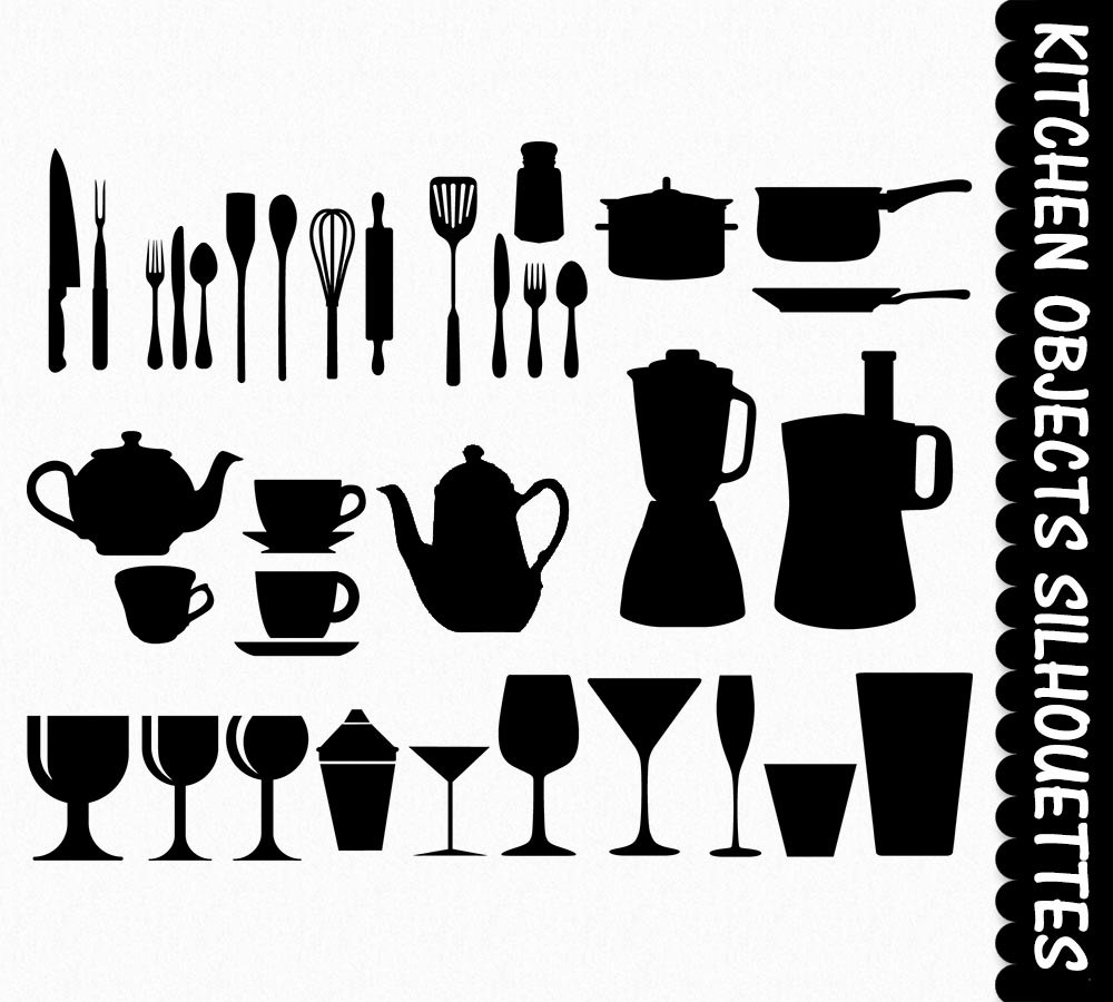Kitchen Clip Art Graphics Clipart Silhouettes by GraphicsSupply.