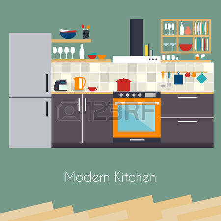 148,813 Kitchen Design Stock Vector Illustration And Royalty Free.