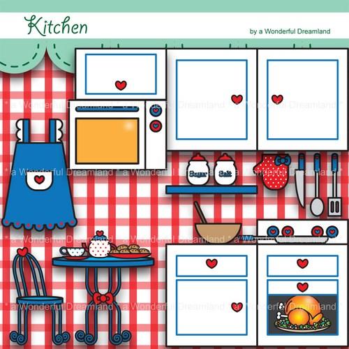 Clip Art Kitchen Design Clipart.