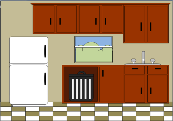 Kitchen Design Clipart.