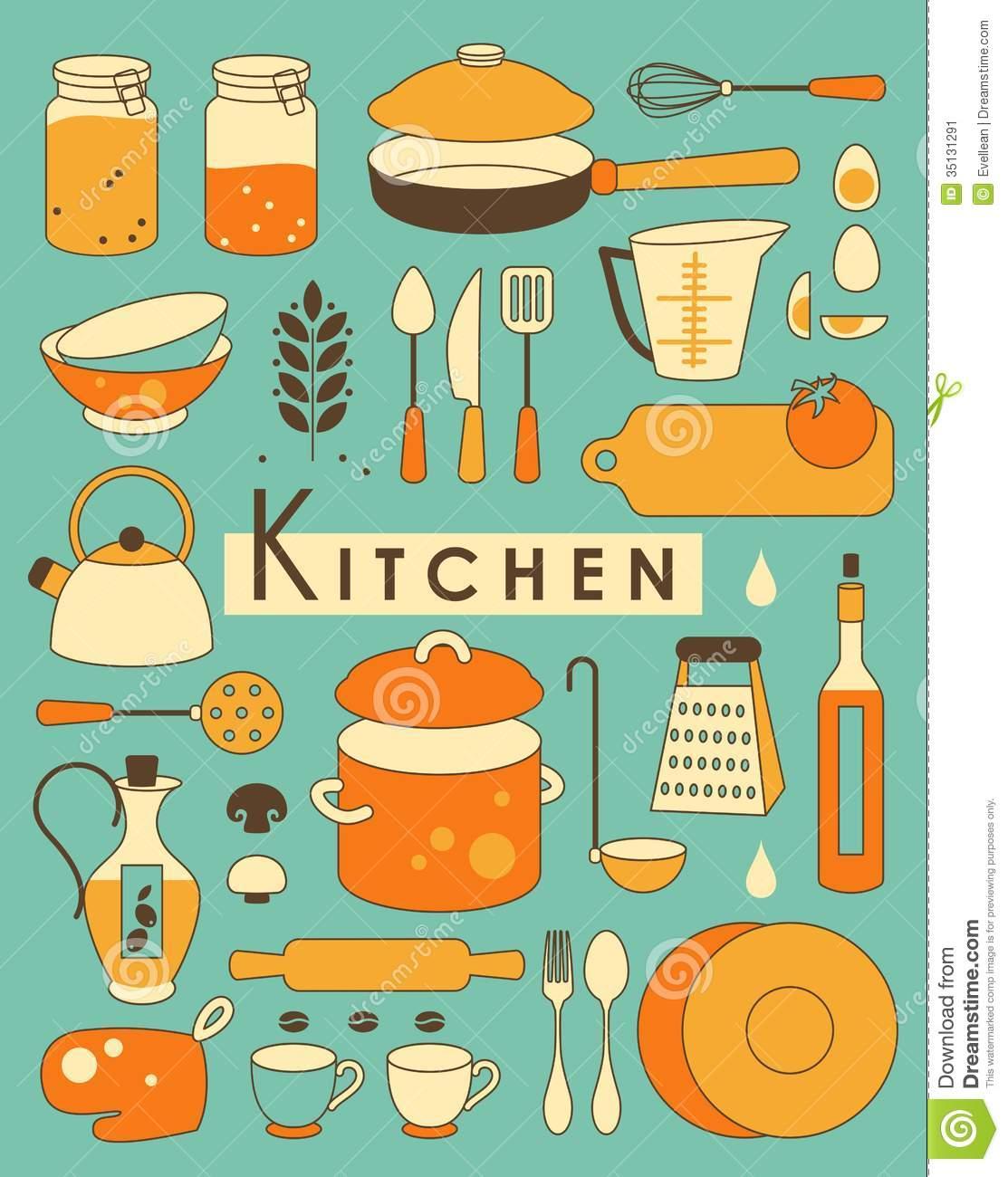 Kitchen equipment clipart - Clipground
