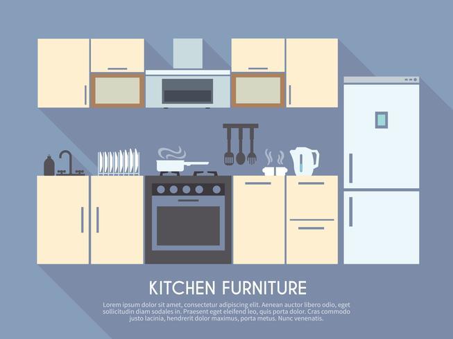 Kitchen Furniture Illustration.