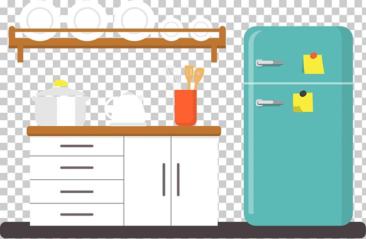 Kitchen Furniture Refrigerator, Kitchen PNG clipart.