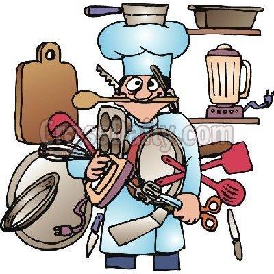 Kitchen helper clipart.