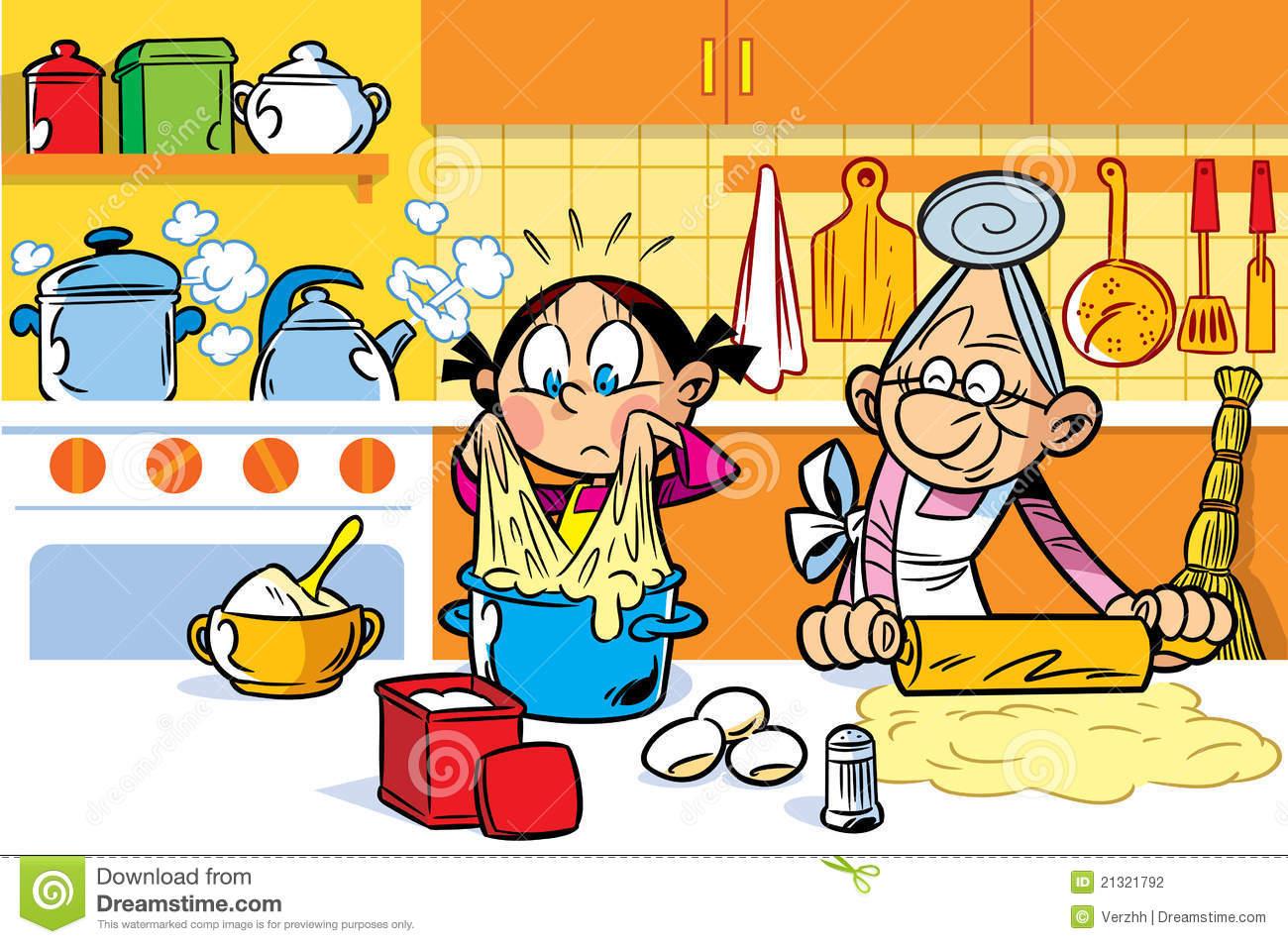 Grandma Cooking Clipart.
