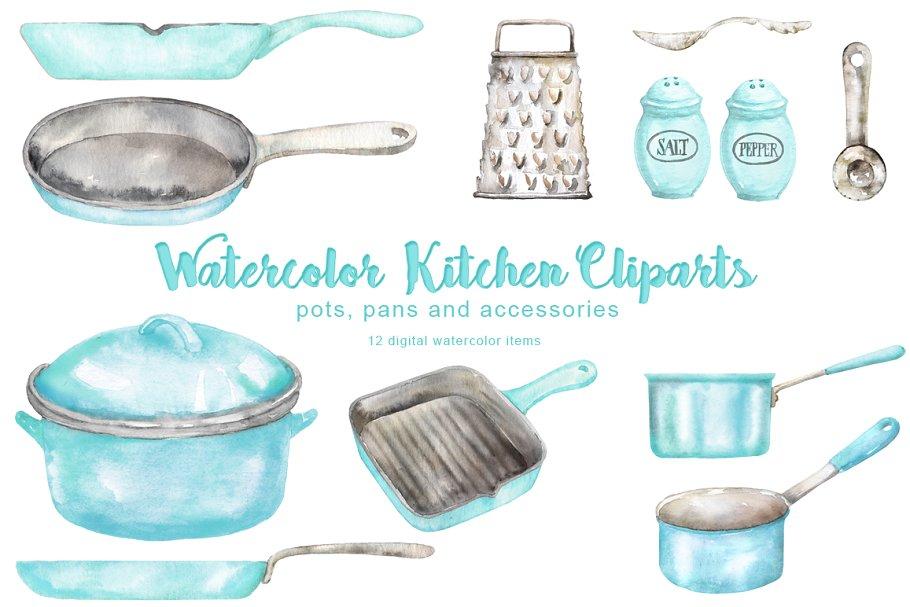 Vintage Kitchen Cliparts.
