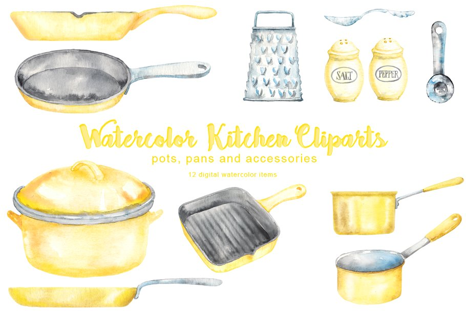 Yellow Kitchen Cliparts.