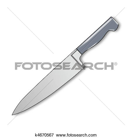 Stock Illustration of Kitchen Knife k4670567.