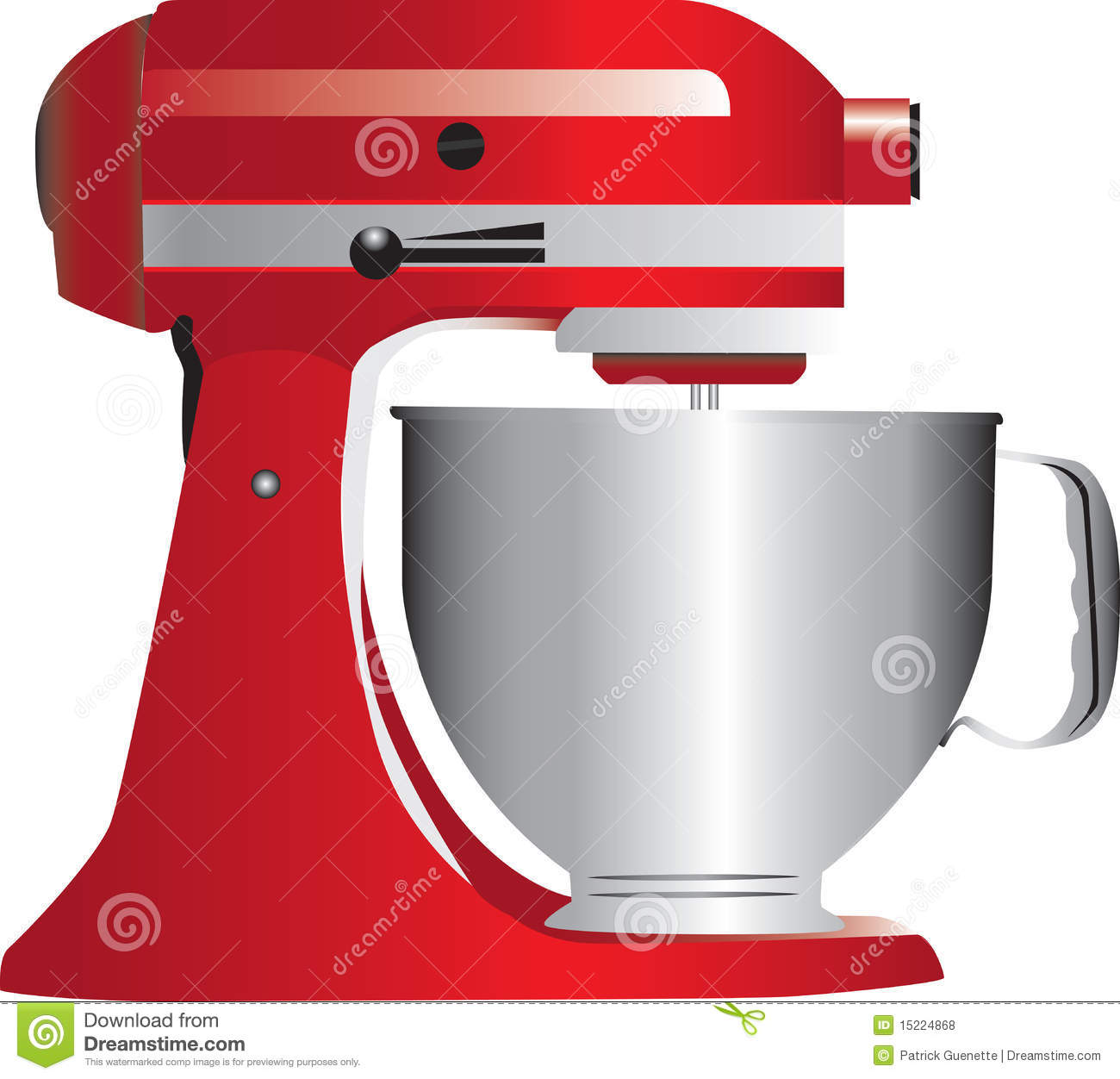 Red Stand Mixer Royalty Free Stock Photos.