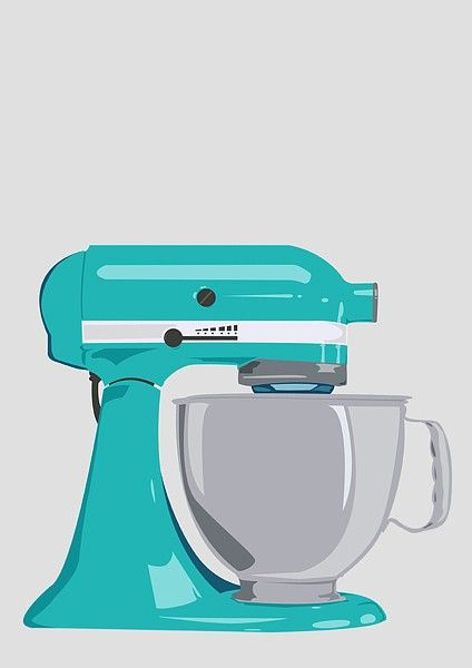 Green kitchen mixer clipart.