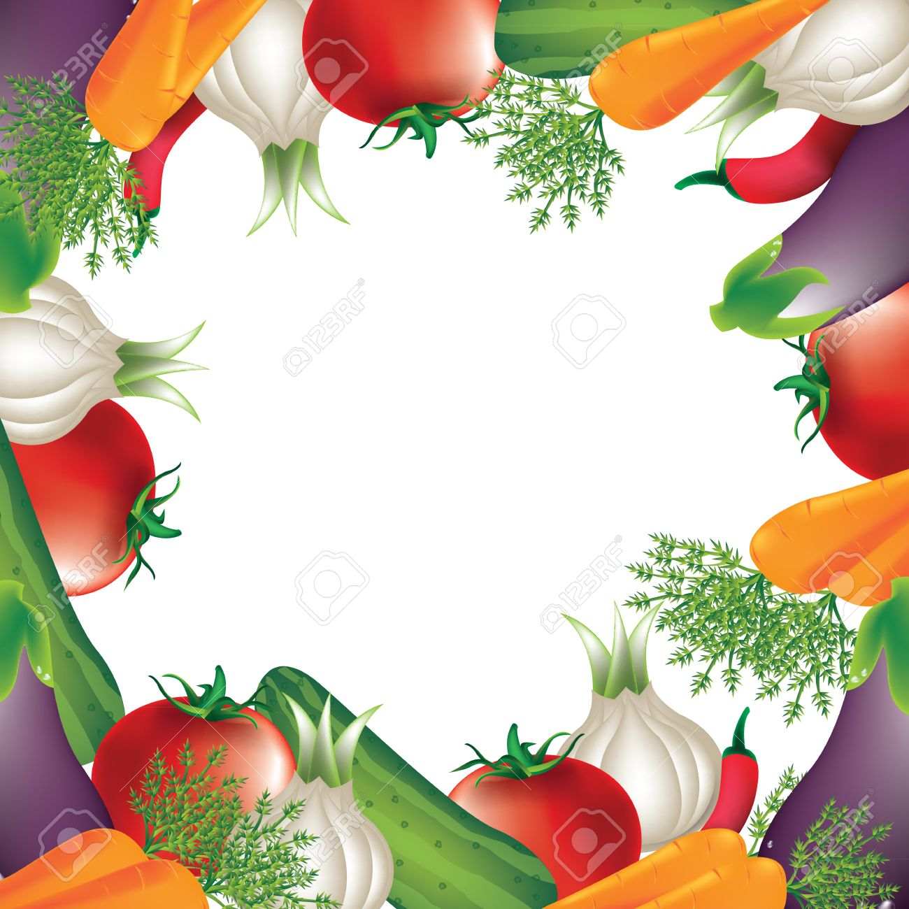 Tomato,carrot,onion, Over White Background Royalty Free Cliparts.
