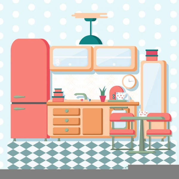 Vintage Kitchen Clipart Free.